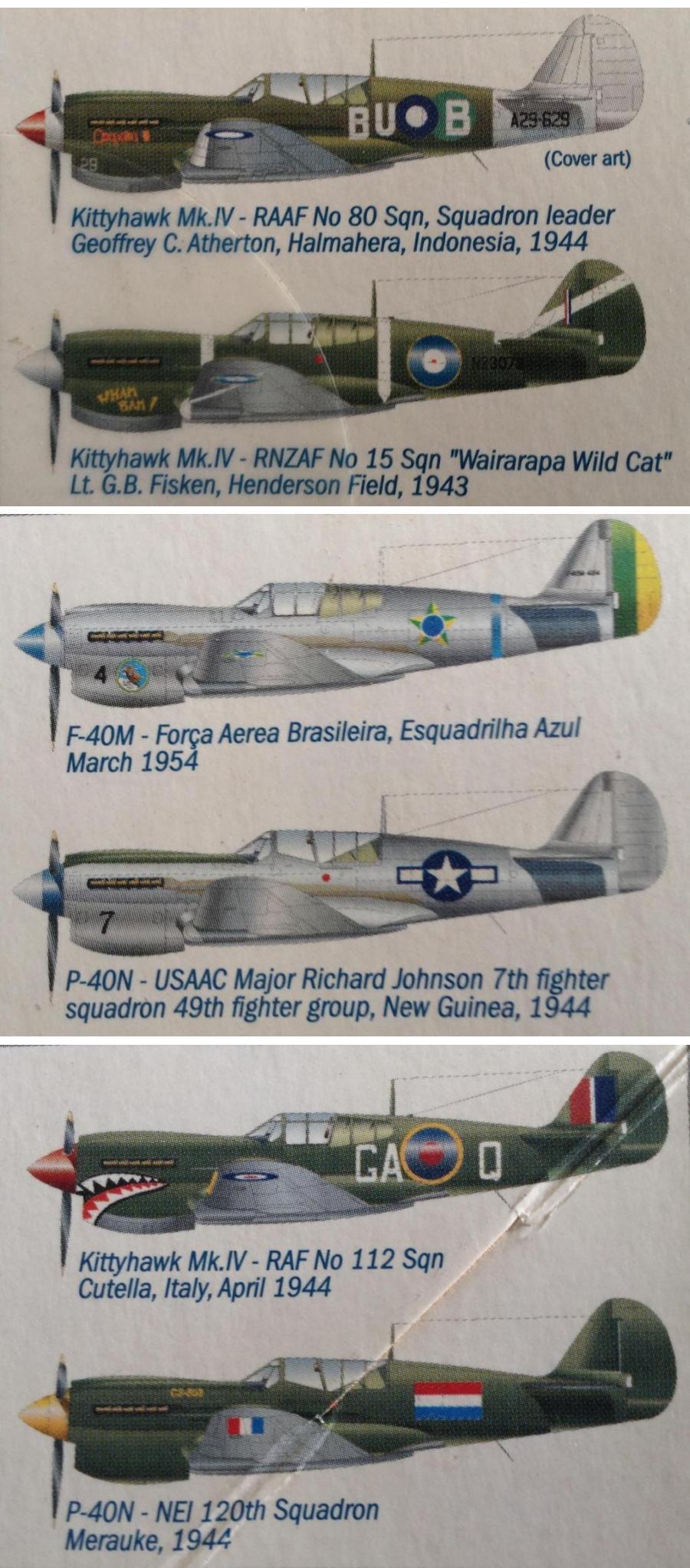 1/48ITALERI P-40 A29-629(1